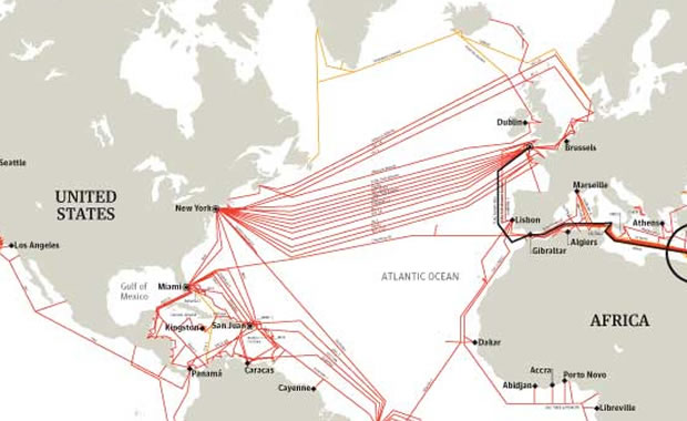 The Internet's undersea world