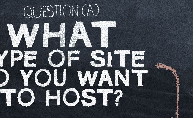 What type of site do you want to host? (Infographic)
