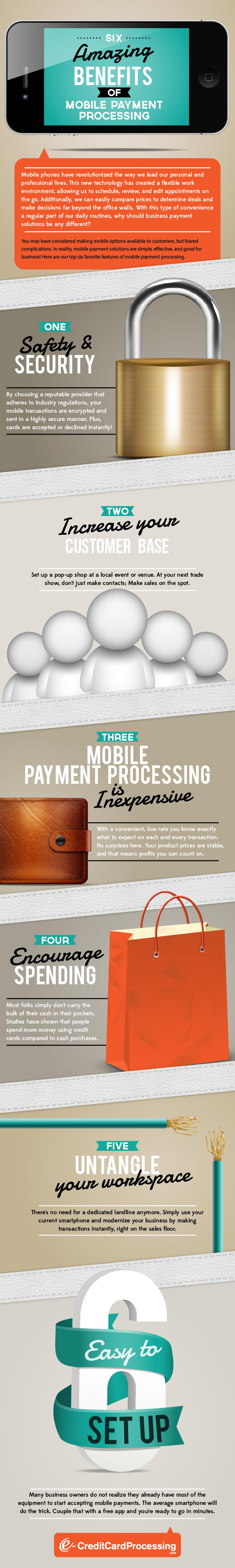 Six Amazing Benefits of Mobile Payment Processing (Infographic)