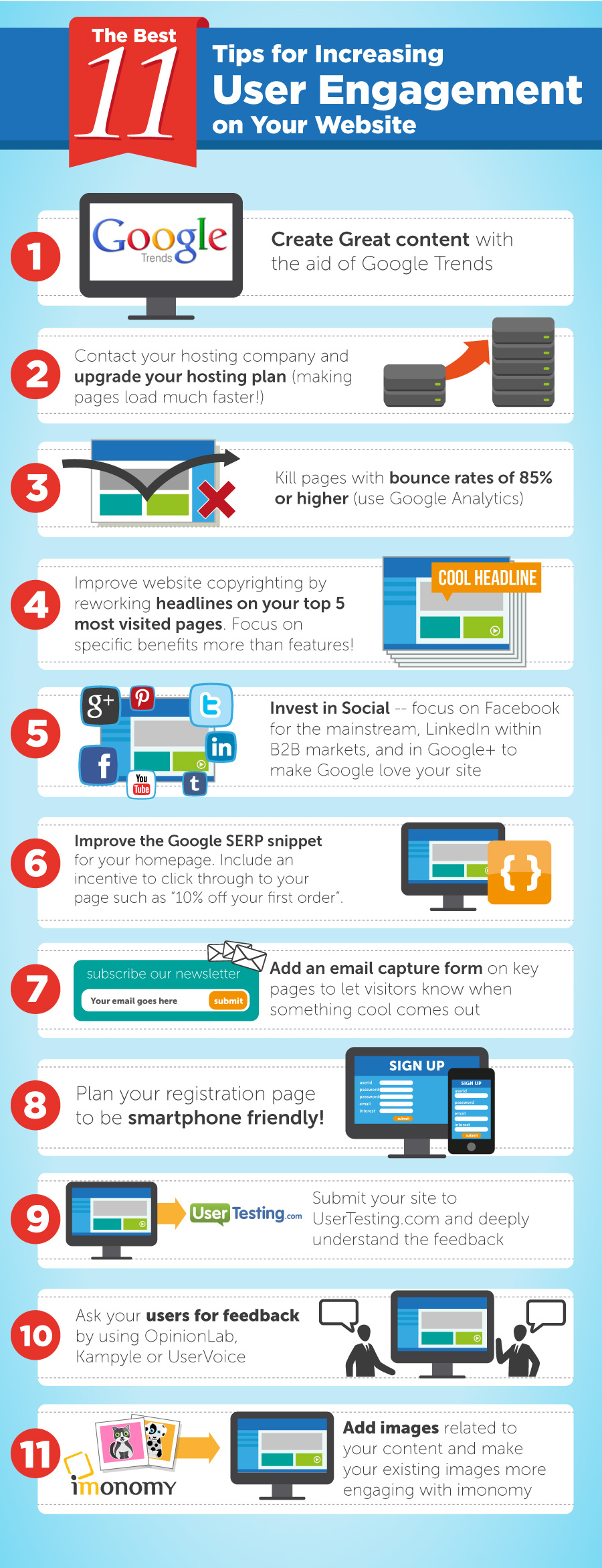 Best 11 Tips for Increasing User Engagement (Infographic)