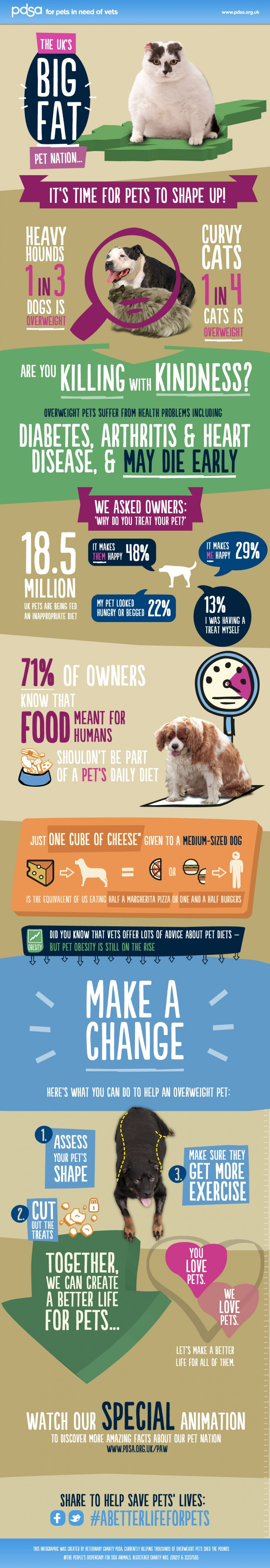 Big Fat Pet Nation UK: Obese Pet Facts (Infographic)