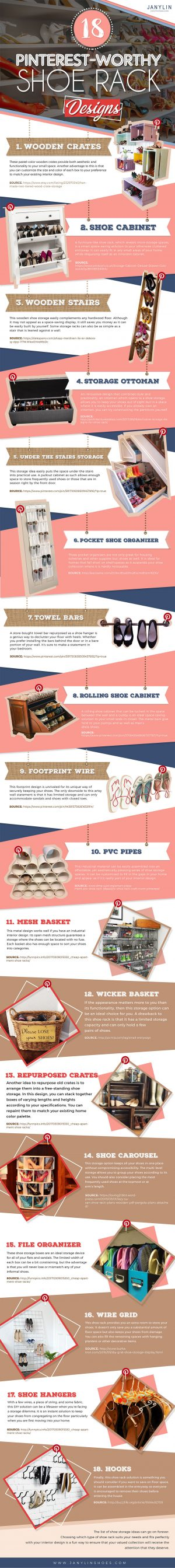 18 Pinterest-Worthy Shoe Rack Designs