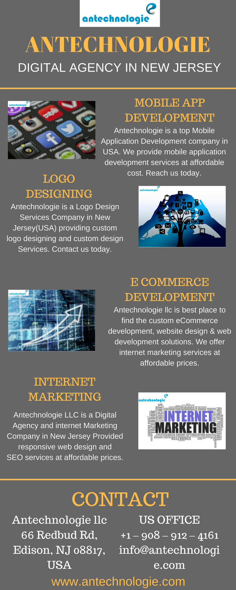 Internet Marketing Company in NJ – Antechnologie – Infographicas