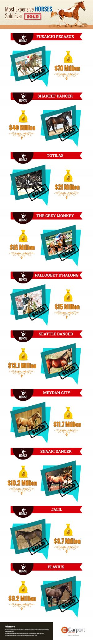 Most Expenses Horses Sold Ever.