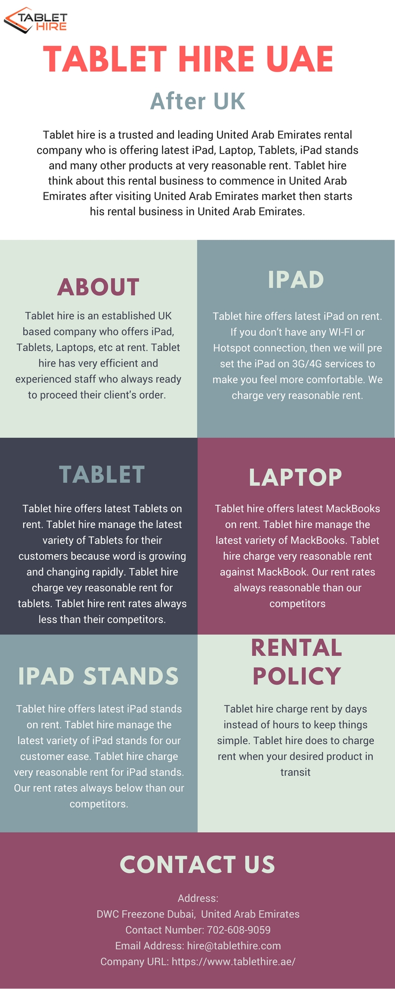 Tablet Hire UAE – Infographicas