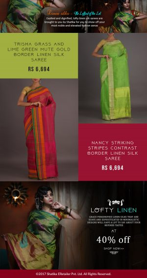 Buy Handloom Linen Silk Sarees from Shatika