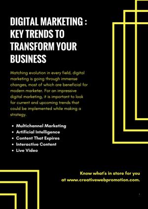 Digital Marketing – Key Trends to transform your Business